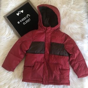 Boys red Gymboree winter coat with hood size 4/5